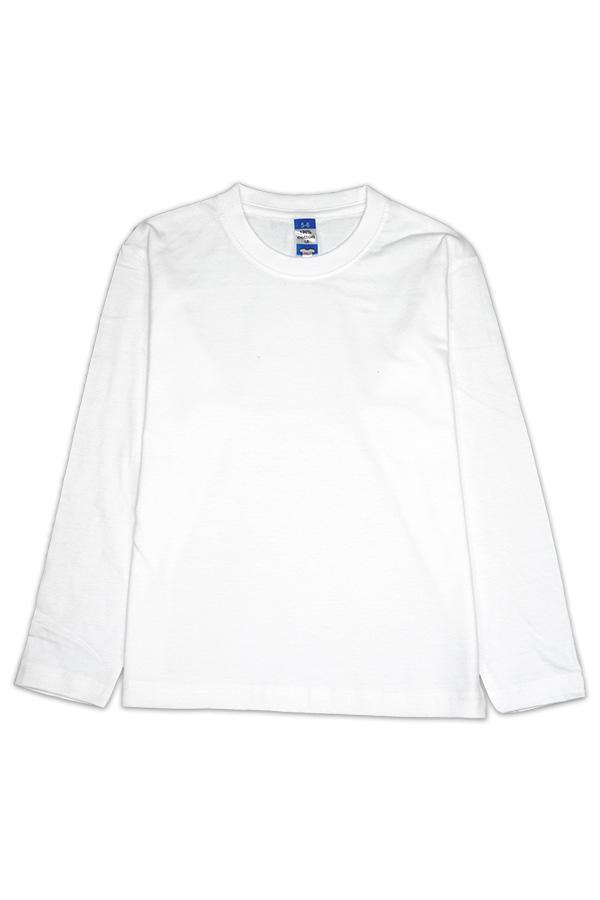 MD Kids Fullycombed Long Sleeve - White